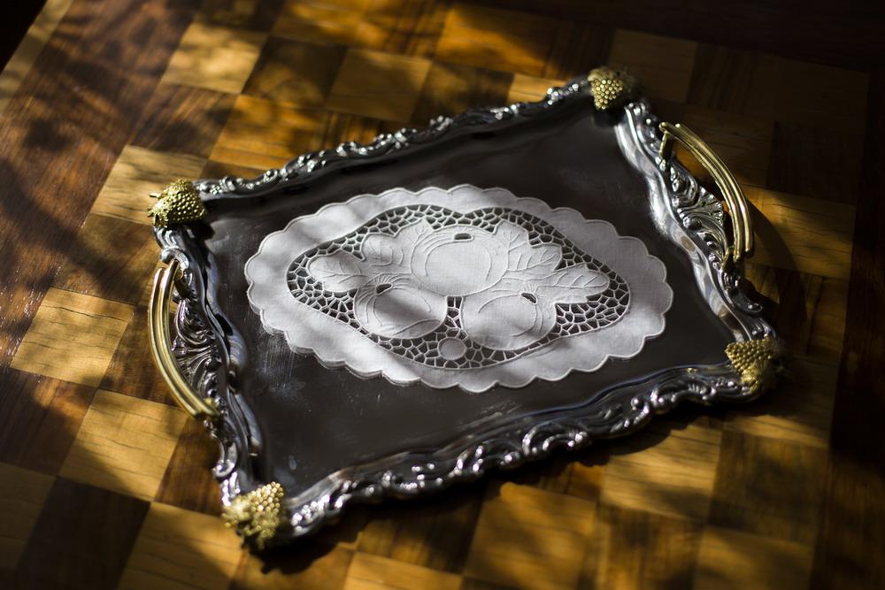 Riselt tálcakendő 26x15 cm ovál