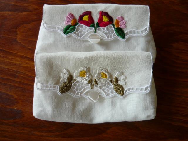 Riselt szemüvegtok kalocsai hímzéssel