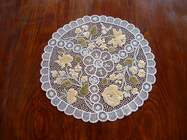 Kalocsai riselt terítő 40 cm kör