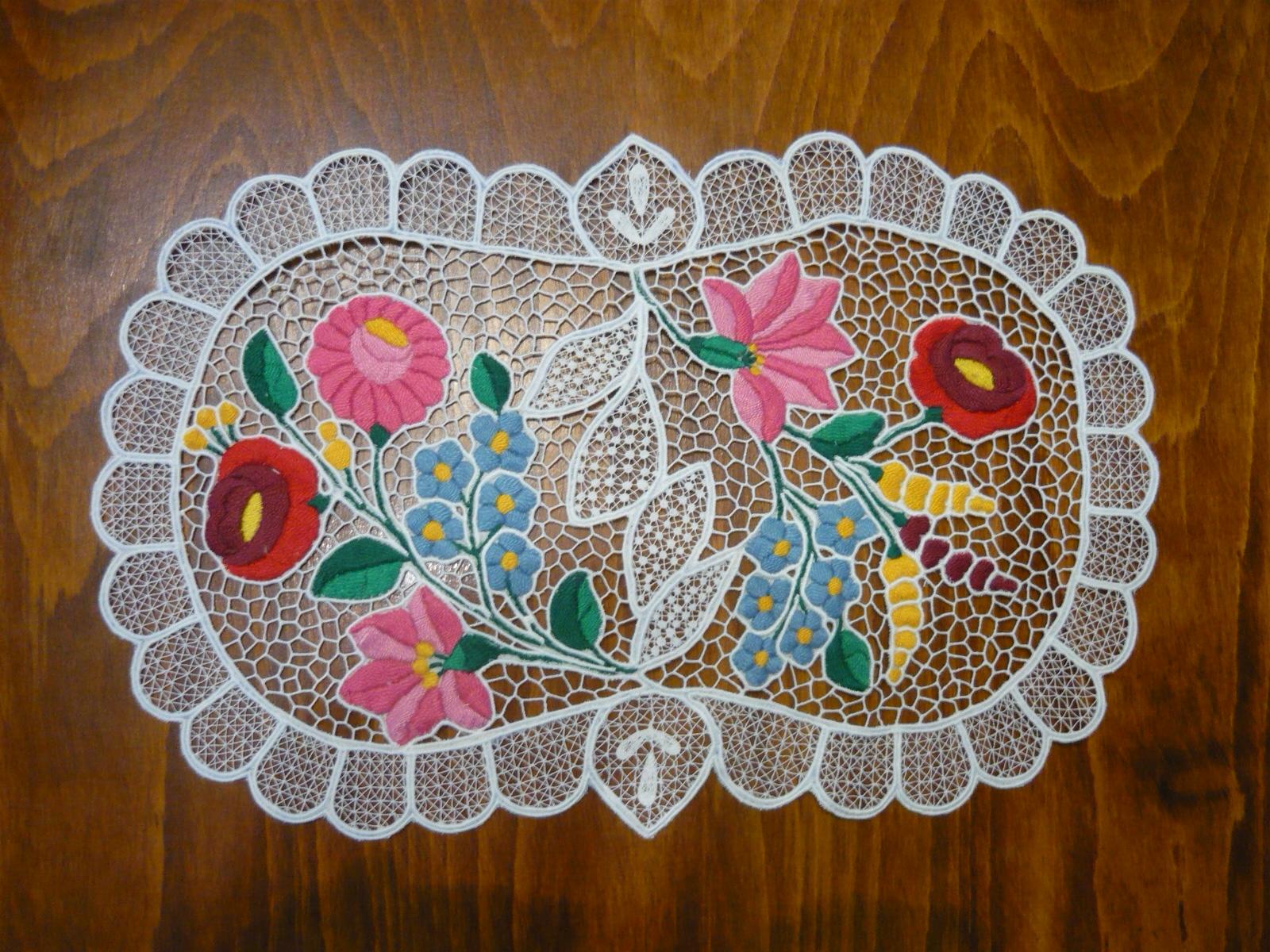 Kalocsai riselt terítő 40 x 25 cm